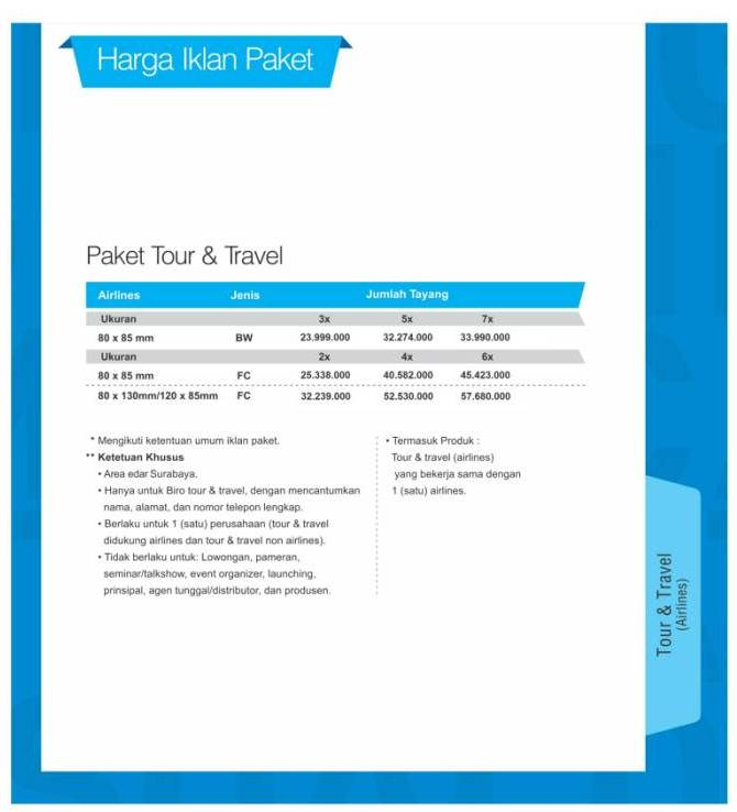 HARGA 2 TourTravel Airlines